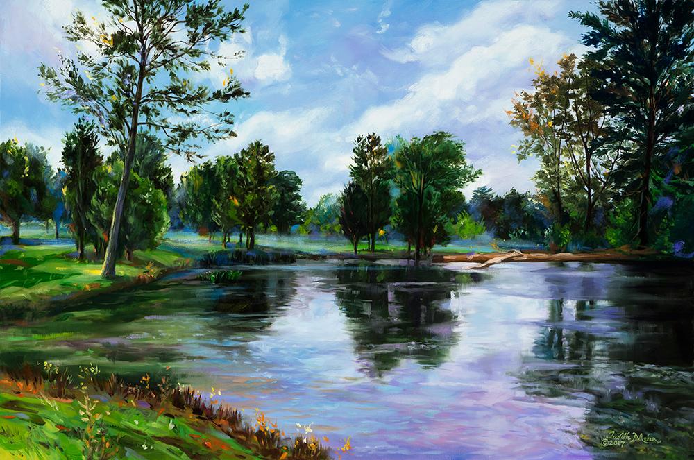Backyard Pond View