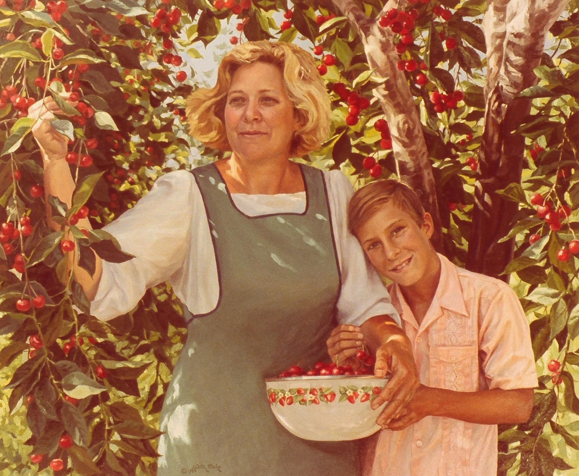 Mom, Stephen and Cherries