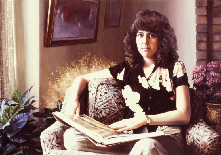 Linda With Bonnard